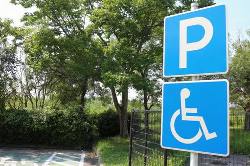 Wheelchair-only parking park