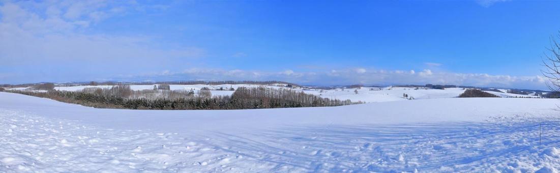 겨울, 비 에이의 언덕 신영 언덕 파노라마