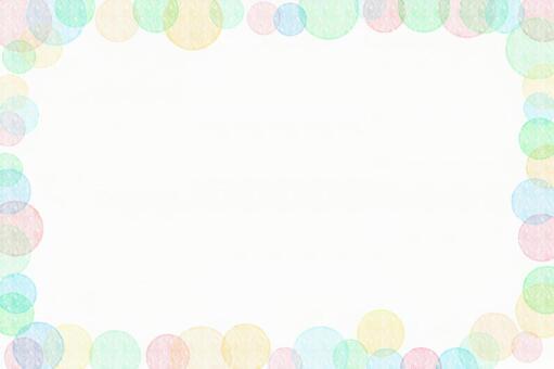 다채로운 거품 프레임