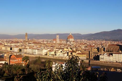 해외 여행 이탈리아 피렌체 미켈란젤로 광장에서 촬영 한 전망 003