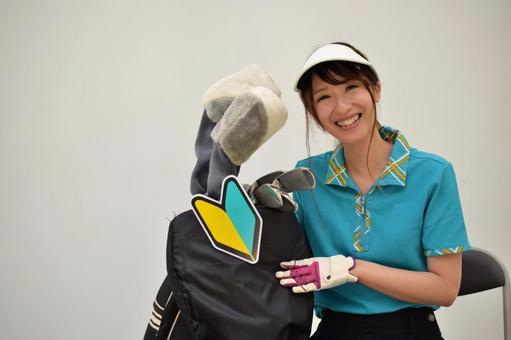 Beginner golf girl