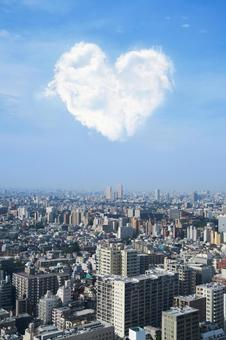 Tokyo and Heart Cloud - Vertical composition