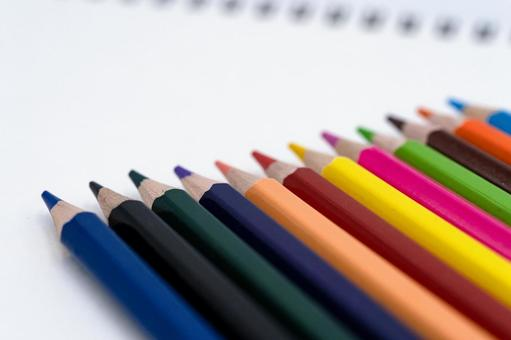 Colorful colored pencils