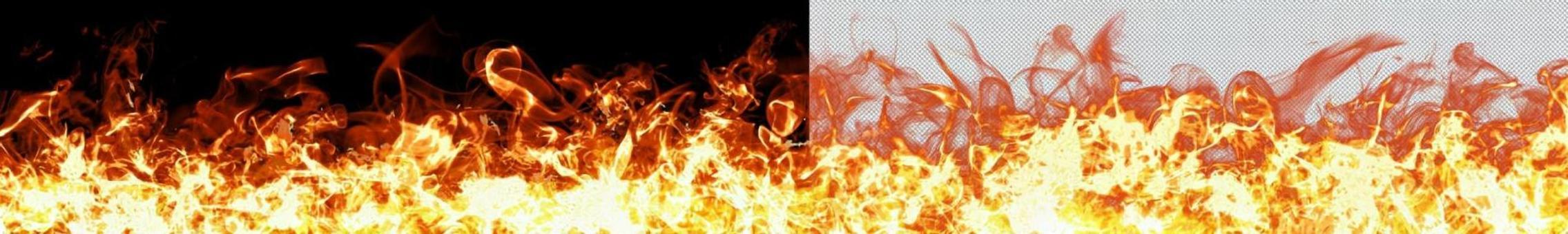 背景材料透明水平火焰PSD