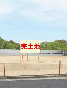 Land for sale (signboard)