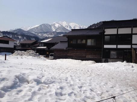 Shirakawa-go snow