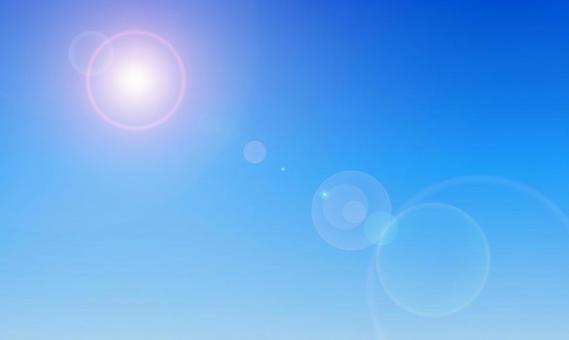 Tropical sky and sun