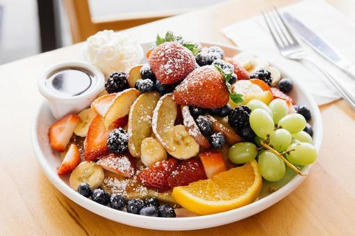 Hawaiian Cafe Fruit Pancakes