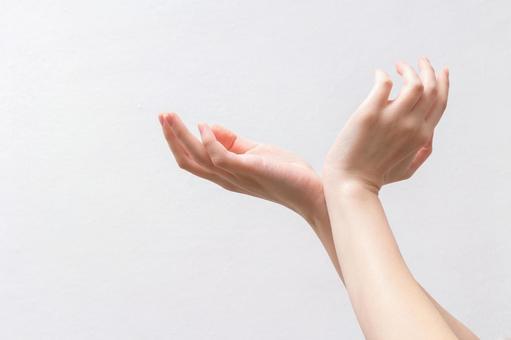 2到手掌直接顶端