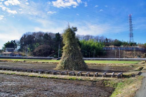 Rural scenery in Kita-Kantou Preparing for Dondoyaki
