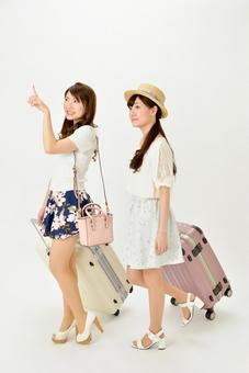 Two person female with carry bag 8