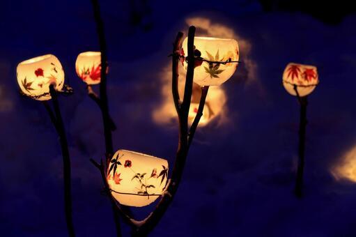 Otaru snow light path (wax bowl) 4
