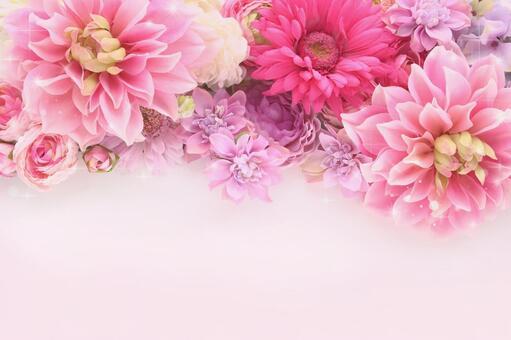 Fluffy flower frame pink 4