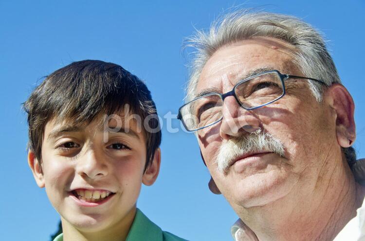 祖父と孫7の写真