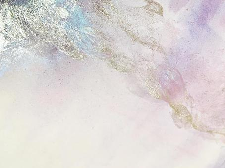 Watercolor and glitter background
