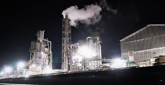 공장 야경 1