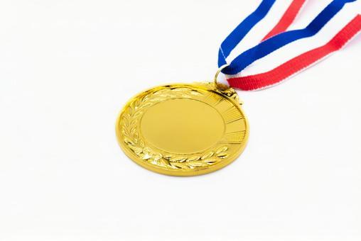 Gold medal white background
