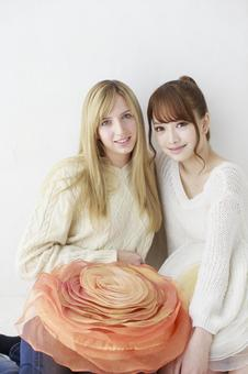 Female friend Foreigner and Japanese 41