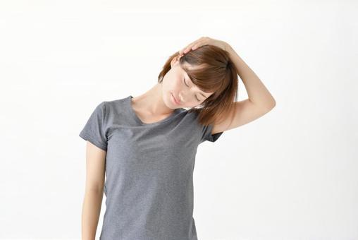 首のストレッチをする女性2 - No: 1352691 写真素材なら「写真AC」無料(フリー)ダウンロードOK