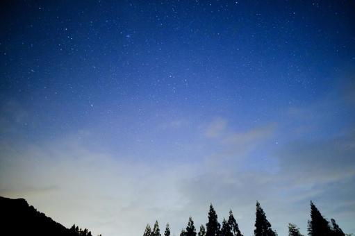 Starry sky in dusk