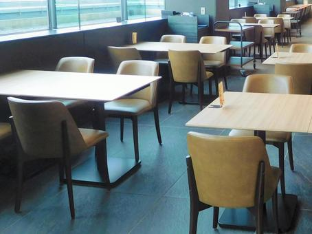 Empty restaurant seats