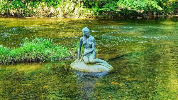 Miyajimakyo Mermaid Statue