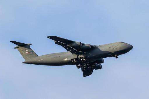 US Air Force Large Transport Aircraft C-5M Super Galaxy (Fussa City, Tokyo)