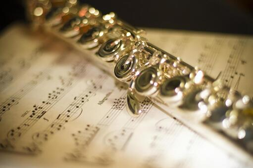 Flute and music notation