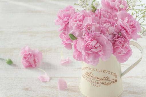 Pink carnation arrangement