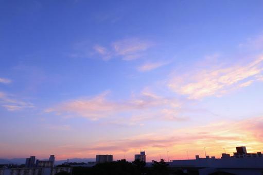 Sky Sunset sky Autumn sky Spreading evening sky