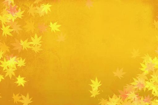 秋葉金葉背景素材   秋天的抽象意象