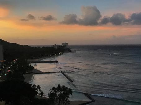 하와이의 새벽