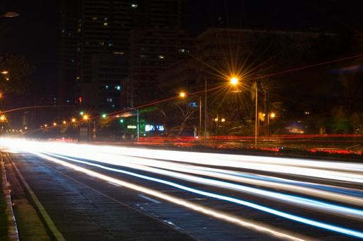 Lighted up road 2