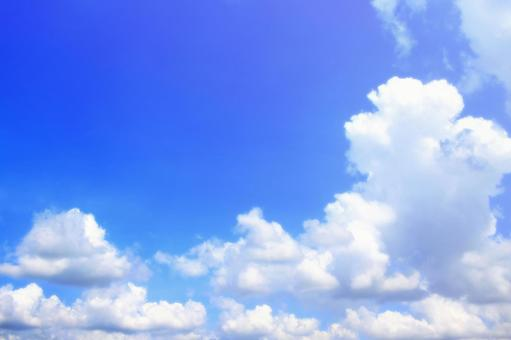 Refreshing blue sky and clouds background material