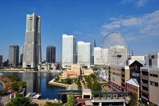 Yokohama's blue sky