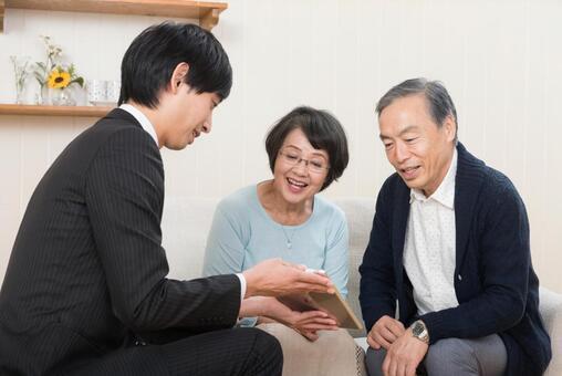 Business negotiation established (senior couple) 4