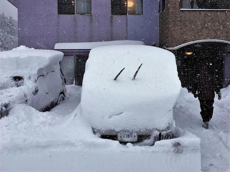 大雪的早晨