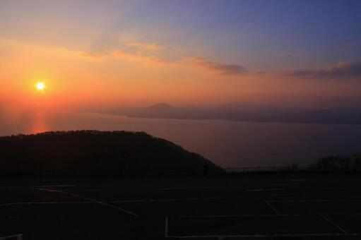Sunset from Mt. Hakodate
