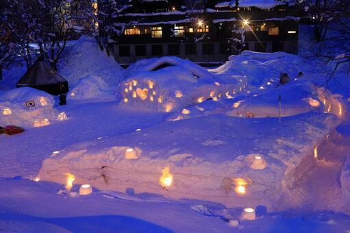 The 20th Otaru snow light path (Asuri River venue) 3