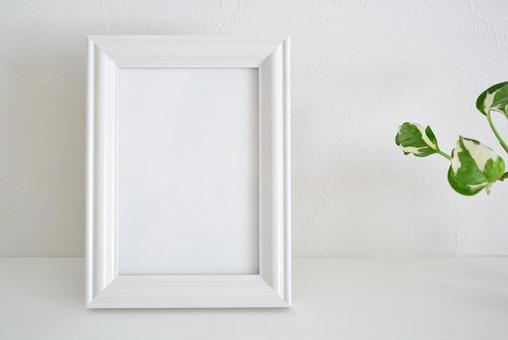 White space with photo frame