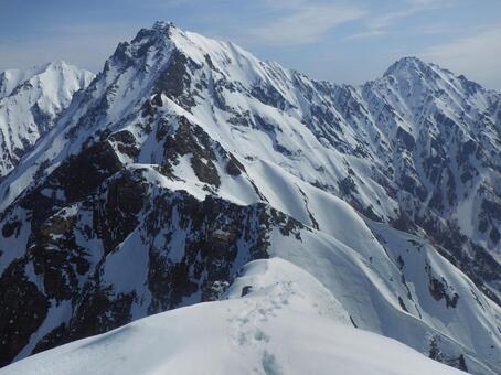 Overlooking Northern Alps Okuhako-dake