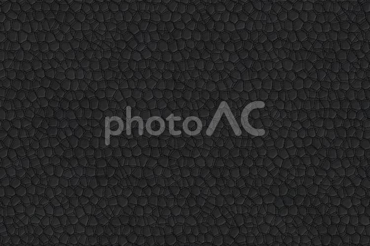 背景素材 ― クラックレザー(割れのある革)/黒・ブラックの写真