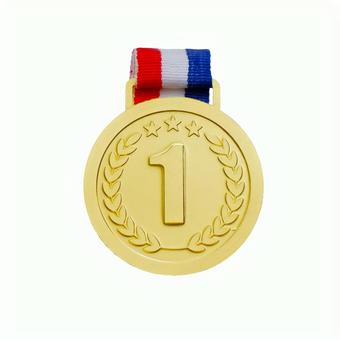 Gold medal 1st place Ranking material psd has transparent background and cutout pass