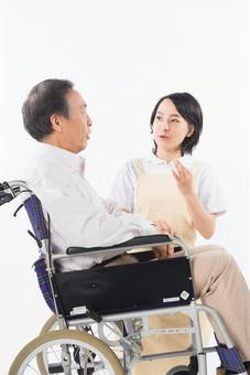 Nurse and wheelchair male 6