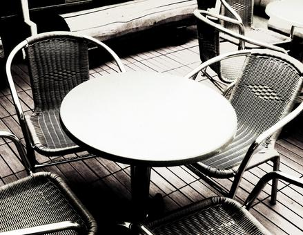 Image of monochrome style terrace