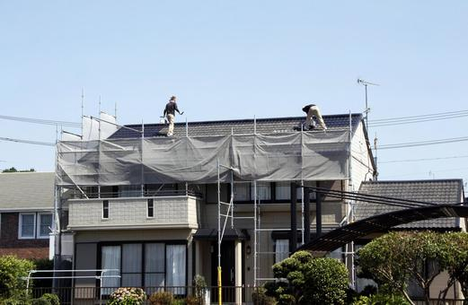 Roof painting work 06