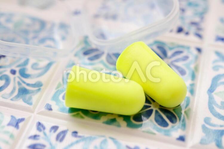 耳栓 テーブルフォトの写真