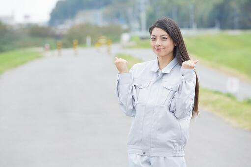 A young woman in work-wearing appearance with a smile (outdoor) 5