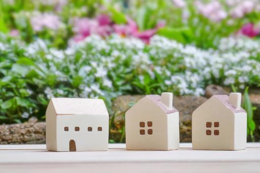 Greenery and housing miniature house