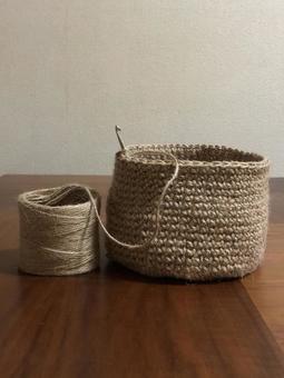 Knitting with hemp string